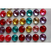 Self-adhesive crystals 6 mm mix - 0024 Emb